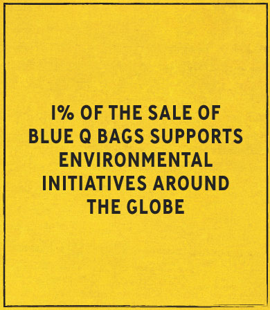 1% of bag sales support environmental initiatives