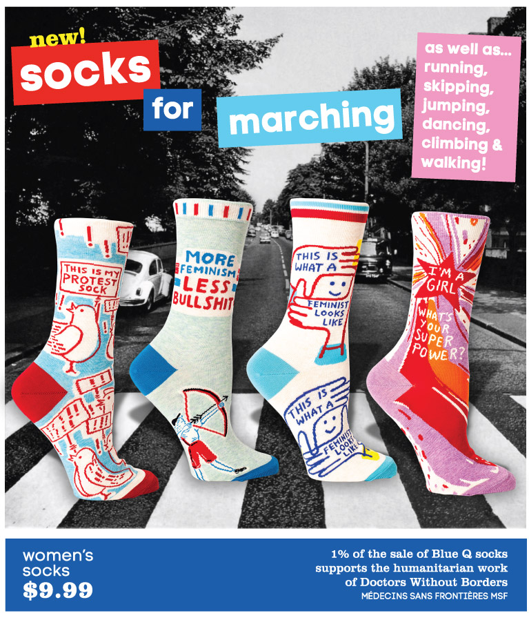 Socks for marching!