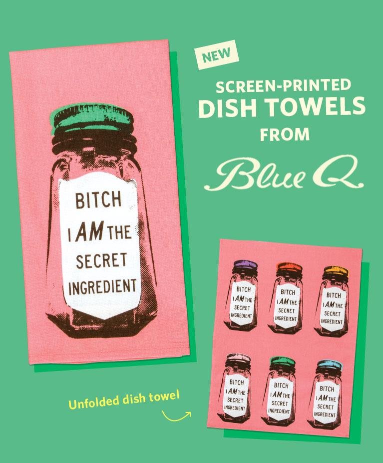 New 2018 Screen-Printed Dish Towels!