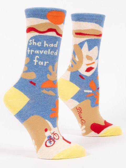 She Had Traveled Far W-Crew Socks
