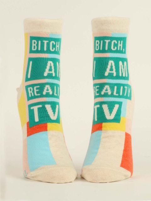 Bitch, I am Reality TV W-Ankle Socks