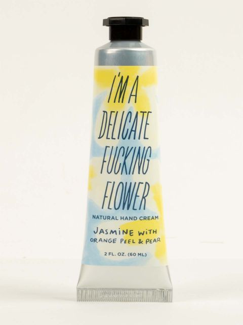 I'm a Delicate Fucking Flower Natural Hand Cream - Jasmine with Orange Peel & Pear
