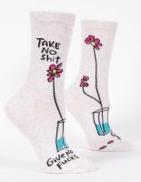 Take No Shit Give No Fucks W-Crew Socks