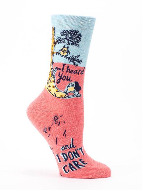 I Heard You and I Don't Care W-Crew Socks