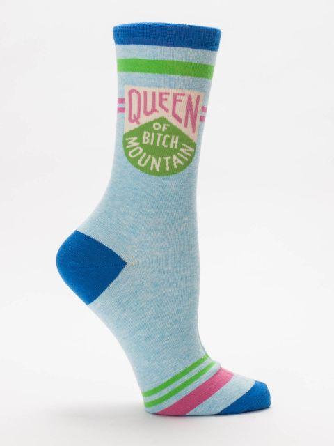Queen Of Bitch Mountain W-Crew Socks