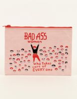 Bad Ass Woman Who Takes Care Of Everyone Zipper Pouch
