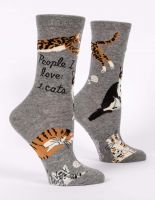 People I Love: Cats W-Crew Socks