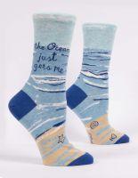 The Ocean Just Gets Me. W-Crew Socks