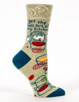 Get The Hell Out Of My Kitchen W-Crew Socks