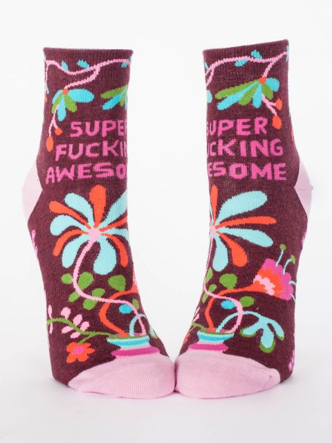 Super Fucking Awesome W-Ankle Socks