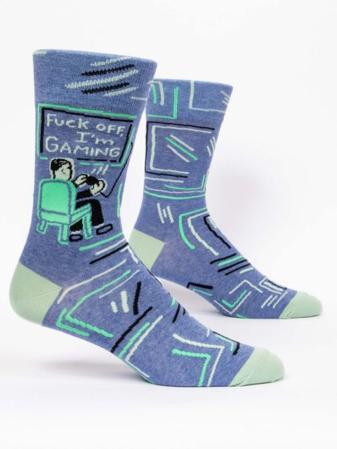 Fuck Off, I'm Gaming M-Crew Socks