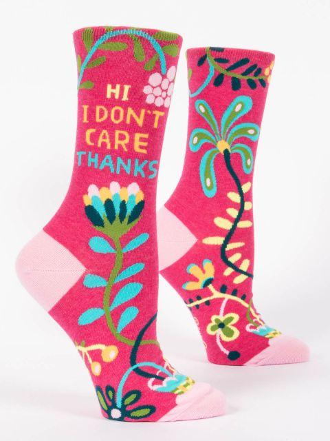 Hi, I Don't Care, Thanks W-Crew Socks