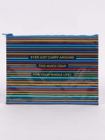Ever Just Carry Around Too Much Crap For Your Whole Life? Zipper Pouch