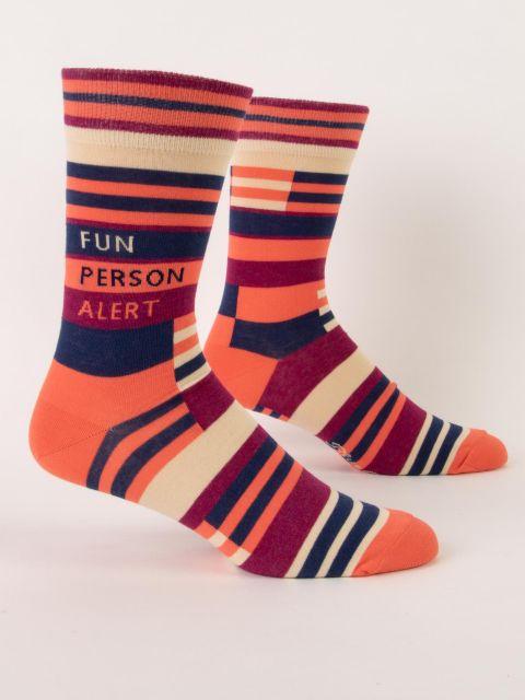 Fun Person Alert M-Crew Socks