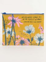 Wildflowers Stand Tall In The Fiercest of Winds Zipper Pouch