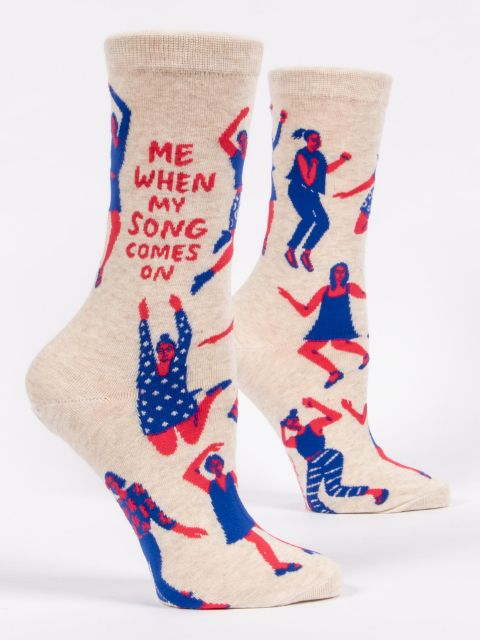 Me When My Song Comes On W-Crew Socks