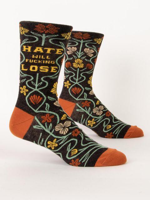Hate Will Fucking Lose M-Crew Socks