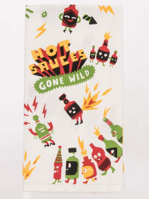Hot Sauces Gone Wild Dish Towel
