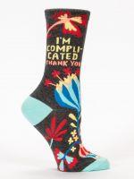 I'm Complicated. Thank You. W-Crew Socks