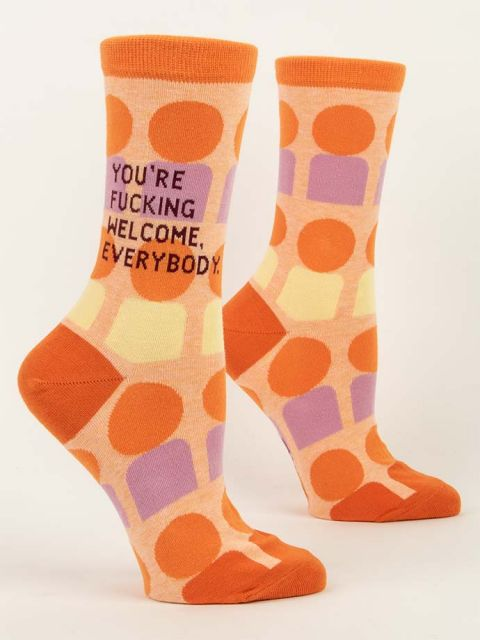 You're Fucking Welcome, Everybody. W-Crew Socks