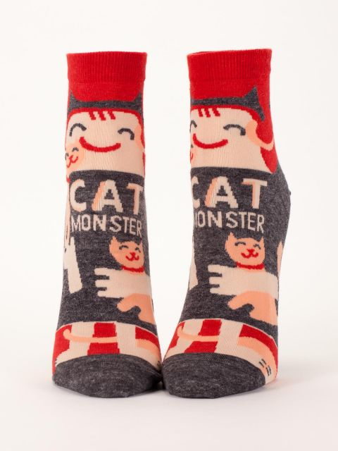 Cat Monster W-Ankle Socks