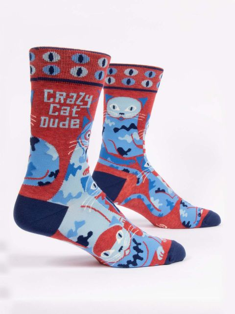 Crazy Cat Dude M-Crew Socks