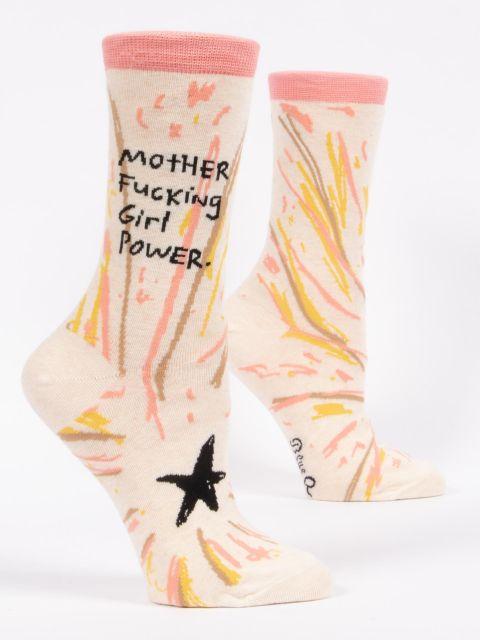 Motherfucking Girl Power W-Crew Socks