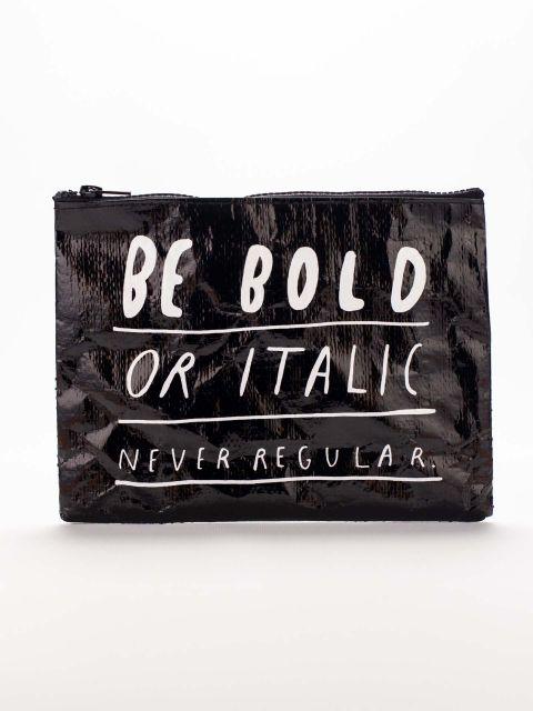 Bold Italic Zipper Pouch